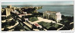 CPSM DAKAR - L'Avenue Roume Et Le Palais Du Haut Commissaire - Format Panoramique 9 X 22 Cm - Sénégal