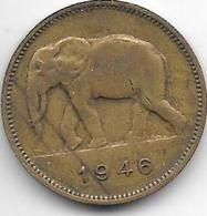 *belgium Congo 2 Francs  1946  Km 28 - Congo (Belgian) & Ruanda-Urundi