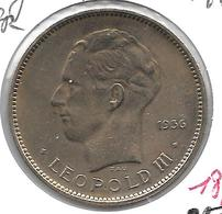 *belgium Congo 5 Francs  1936  Km 24 Vf+ - Congo (Belgian) & Ruanda-Urundi