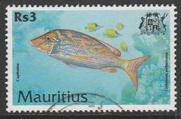 Mauritius 2000 Fish Rs 3  Multicoloured SW 925 O Used - Mauritius (1968-...)