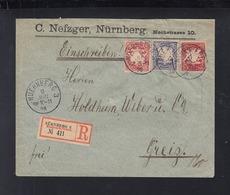 Bayern R-Brief 1898 Nürnberg Nach Greiz - Bayern