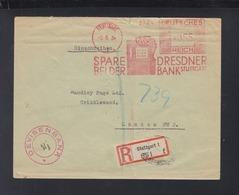 Dt. Reich Brief 1934 Freistempel Dresdner Bank Nach London Gelaufen - Briefe U. Dokumente