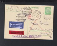 Dt. Reich Luftpost Expres-PK 1937 Leipzig Nach Berlin - Briefe U. Dokumente