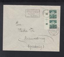 Dt. Reich Paar Rand 1935 Saarbrücken Nach Braunschweig - Briefe U. Dokumente
