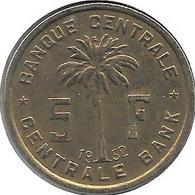 *belgium Congo 5 Francs  1952  Km 1 Vf+ - 1951-1960: Baudouin I