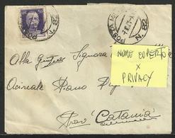 POSTA MILITARE 82: Occupazione Grecia (Patrasso - Πάτρα) Su Bustina - 1900-44 Vittorio Emanuele III