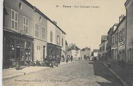 28, Eure Et Loire, TOURY, Rue Nationale, Scan Recto-verso - France
