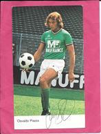 Carte Football  ASSE Saint Etienne Osvaldo Piazza Dédicacée Authentique Publicité Manufrance 1970 - Calcio