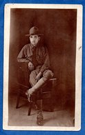 Carte Photo -  Soldat Américain - War 1914-18