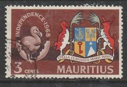 Mauritius 1968 Independence 3c Multicoloured SW 333 O Used - Mauritius (1968-...)