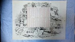 Calendrier 1882 - Big : ...-1900