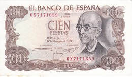 BILLETE DE 100 PTAS 17/11/1970 SERIE 6X SIN CIRCULAR - UNCIRCULATED (BANK NOTE) MANUEL DE FALLA - 100 Pesetas