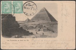 Les Pyramides Au Bord Du Nil, Gizeh, 1903 - U/B Postcard - 3d Foreign Branch Postage Due - Gizeh