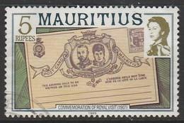 Mauritius 1978 Maps And Historical Events Rs5 Multicoloured SW 471 O Used - Mauritius (1968-...)