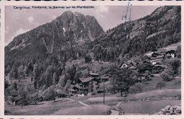 Cergneux, Fontaine, La Barmaz Sur Les Marécottes, Cachet Linéaire LE TEMELEY Les Marécottes Valais (22.7.37) - VS Wallis