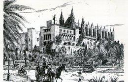 John Lodi: Catedral Y Palacio De La Almudaina (Palma De Mallorca) - Paintings
