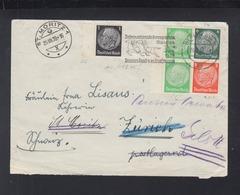 Dt. Reich ZD Auf Brief 1939 Berlin Nach St. Moritz - Briefe U. Dokumente