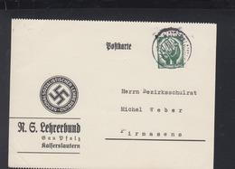 Dt. Reich PK NS Lehrerbund Kaiserslautern 1934 - Briefe U. Dokumente
