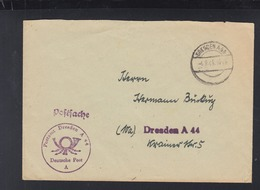 Postsache Dresden 1948 - Sowjetische Zone (SBZ)