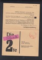 Dt. Reich Doppelkarte Stuttgart Gebühr Bezahlt - Briefe U. Dokumente
