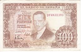 BILLETE DE ESPAÑA DE 100 PTAS DEL 7/04/1953 SERIE 2C CALIDAD MBC (VF) (BANKNOTE) - 100 Pesetas