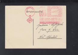 Dt. Reich PK Freistempel UFA Gold Hans Albers Brigitte Helm 1934 - Poststempel - Freistempel