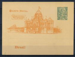 Brasile 1898 Intero Postale 100% 50 Reis - Postal Stationery