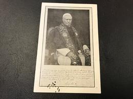 Reproduction De L'importante Et Precieuse Déclaration Que Sa Sainteté PIE X A Daigné écrire Entierement De Sa Main 1913 - Devotieprenten