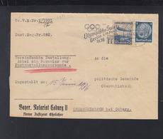 Dt. Reich Postzustellungsurkunde 1936 - Briefe U. Dokumente