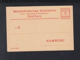 Privatpost Hammonia Hamburg 3 Pfennig Karte Ungebraucht - Germania