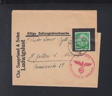 Dt. Reich Streifband 1941 Berlin Nach St. Gallen Zensur - Briefe U. Dokumente