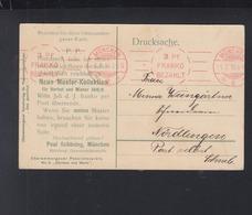 Bayern PK 1910 3 Pf Franko Bezahlt - Bayern