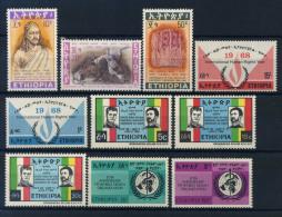 Etiopia 1968 Mi. 581-588,592-593 Nuovo ** 100% Imperatore Theodorus, Diritti Umani, Shah Dell'Iran - Ethiopia