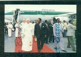 PAPI - GIOVANNI PAOLO II°- PAPA WOITILA - VIAGGI PAPALI - VIAGGIO IN AFRICA-CARTOLINA N. 433 - Papi