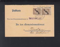 Dt. Reich Dienst-PK Immenstadt 1926 - Dienstpost