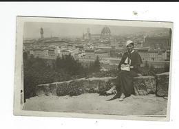 Carte Photo élégante Dame à Florence Italie Sans Doûte - Photographie