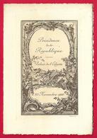 Programme Culturel Au Palais De L'Élysée - Présidence De La République Française - Année 1908 - Programmes