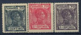Fernando Po 1901 Mi. 90-92 Nuovo * 100% Re Alfonso XIII - Fernando Po