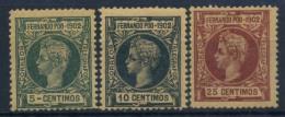Fernando Po 1902 Mi. 105-107 Nuovo ** 100% Re Alfonso XIII - Fernando Po