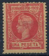 Fernando Po 1902 Mi. 110 Nuovo ** 80% Re Alfonso XIII, 1 P - Fernando Po
