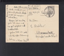 Dt. Reich PK 1942 Feldpost  48784 Nach Litzmannstadt - Deutschland