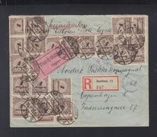 Dt. Reich Expresbrief 1923 Hamburg Nach Kopenhagen - Briefe U. Dokumente