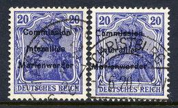 MARIENWERDER 1920 (8 MAy)  Overprint On Germany  20 Pf., Two Shades Used,   Michel 16 B I, 16 B II - Germany