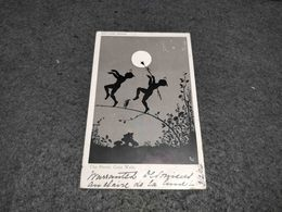 """ANTIQUE POSTCARD NOCTURNE SERIES """" THE PIXIES CAKE WALK"""" UNKNOWN SIGNED CIRCULATED 1904 ILFRAMCOBE CANCEL - Ilustradores & Fotógrafos"""