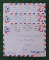 Trois Enveloppes Datées De 1955 - Maroc - Casablanca - B.A. 155 - Poste Aérienne - Poste Aérienne