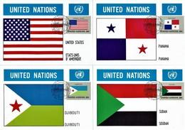 UN New York - Mi-Nr 373/388 Maxicards (S171) - Flaggen