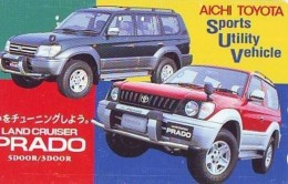 Télécarte JAPON * TOYOTA  PRADO (1395) Phonecard JAPAN * VOITURE * Auto CAR * TELEFONKARTE * - Cars