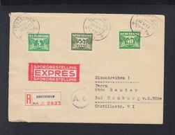 Niederlande Expresbrief 1941 Amsterdam Nach Bad Homburg - 1891-1948 (Wilhelmine)