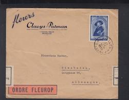 Belgien Fleurop Brief 1939 Nach Deutschland Devisenüberwachung - Belgien