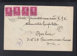 Romania Cover To Generalkommando III AK Berlin Censor - 2. Weltkrieg (Briefe)